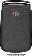 Xentris Wireless - Leather Case for BlackBerry 9800 Torch Mobile Phones - Black/Pink