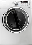 Samsung - 7.3 Cu. Ft. 9-Cycle Super Capacity Steam Electric Dryer - White
