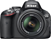 Nikon - D5100 162-Megapixel DSLR Camera with 18-55mm VR Lens - Black