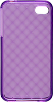 Rocketfish Mobile - Soft Shell Case for Apple iPhone 4 and 4S - Purple