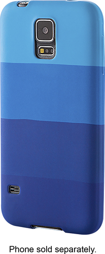 Dynex™ - Soft Shell Case for Samsung Galaxy S 5 Cell Phones - Blue