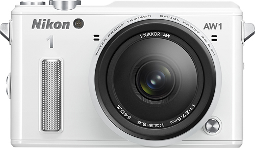 Nikon - 1 AW1 Mirrorless Camera with 11-27.5mm Lens - White