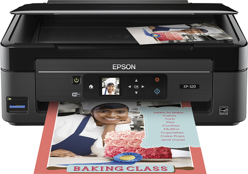 Epson - Expression Home XP-320 Wireless All-In-One Printer - Black