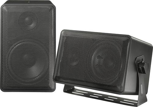 Dynex - 2-Way Indoor/Outdoor Multipurpose Speakers (Pair)