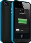 mophie - Juice Pack Plus for Apple iPhone 4 - Cyan