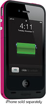 mophie - Juice Pack Plus for Apple iPhone 4 and 4S - Magenta