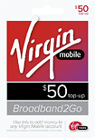 'Virgin Mobile - $50 Broadband to Go Top-Up Card