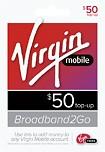 Virgin Mobile - $50 Broadband to Go Top-Up Card
