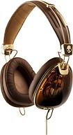 Skullcandy - Aviator Headphones - Brown/Gold