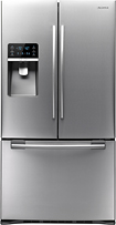 Samsung - Clearance 28.5 Cu. Ft. French Door Refrigerator with Thru-the-Door Ice and Water - Stainless-Steel