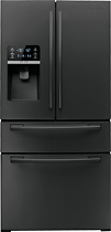 Samsung - 25.5 Cu. Ft. French Door Refrigerator with Thru-the-Door Ice and Water - Black