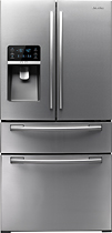 Samsung - 255 Cu Ft French Door Refrigerator with Thru-the-Door Ice and Water - Stainless-Steel