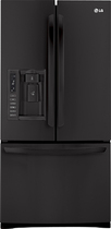 LG - 249 Cu Ft French Door Refrigerator with Thru-the-Door Ice and Water - Black