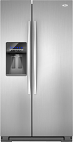 Whirlpool - 263 Cu Ft Side-by-Side Refrigerator with Thru-the-Door Ice and Water - Stainless-Steel