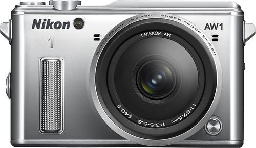 Nikon - 1 AW1 Waterproof Mirrorless Camera with 11-27.5mm Lens - Silver