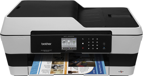 Brother - MFC-J6520DW Wireless All-In-One Printer - Gray