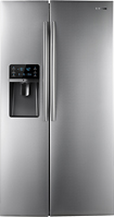 Samsung - 296 Cu Ft Side-by-Side Refrigerator with Thru-the-Door Ice and Water - Stainless-Steel