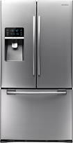Samsung - 285 Cu Ft French Door Refrigerator with Thru-The-Door Ice and Water - Stainless-Steel