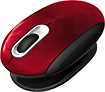 Prestige - Smartfish Whirl Mini Wireless Laser Mouse - Metallic Red