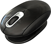 Prestige - Smartfish Whirl Mini Wireless Laser Mouse - Metallic Black