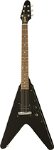 Gibson - Flying V Melody Maker 6-String Full-Size Electric Guitar - Satin Black