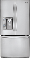 LG - 310 Cu Ft French Door Refrigerator with Thru-the-Door Ice and Water - Stainless-Steel