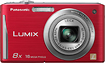 Panasonic - Lumix FH27 161-Megapixel Digital Camera - Red