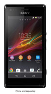 Sony - Xperia M Cell Phone (Unlocked) - Black