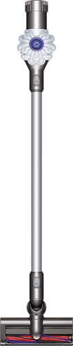 Dyson - V6 Bagless Cordless Stick Vacuum - White/Iron