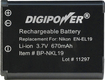 DigiPower - NKL19 Recharable Lithium-Ion Battery for Nikon Coolpix S3100 and S4100 Digital Cameras