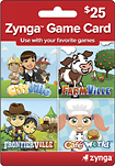 Zynga - $25 Zynga Game Card