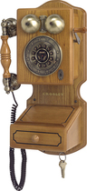 Crosley - Corded Country Kitchen Wall Phone - Oak