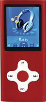 Mach Speed - Eclipse 4GB Media Player - Red