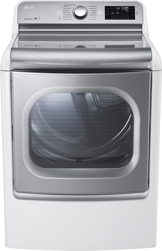 LG - 9.0 Cu. Ft. 14-Cycle Steam Gas Dryer - White