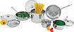 Wolfgang Puck 10-Piece Cookware Set - Stainless-Steel