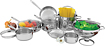 Wolfgang Puck 14-Piece Cookware Set - Stainless-Steel