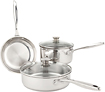 Wolfgang Puck 5-Piece Cookware Set - Stainless-Steel