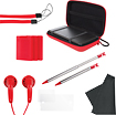 dreamGEAR - 11-in-1 Starter Pack for Nintendo 3DS - Red - Red