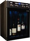 Vinotemp - 4-Bottle Wine Dispenser - Black