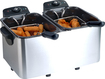 Maxi-Matic - Dual-Basket Deep Fryer - Black/Silver