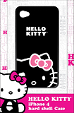 Hello Kitty - Hard Shell Case for Apple iPhone 4 - Black