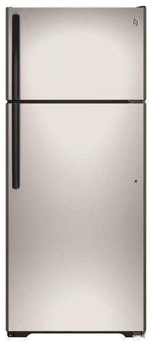 GE - 17.5 Cu. Ft. Frost-Free Top-Freezer Refrigerator - Silver