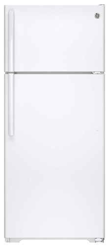 GE - 17.5 Cu. Ft. Frost-Free Top-Freezer Refrigerator - White