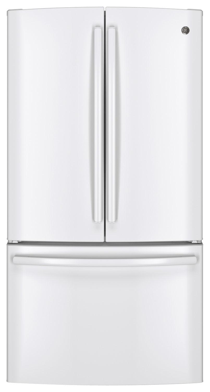 GE - 28.5 Cu. Ft. French-Door Refrigerator - White