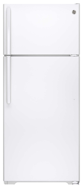 GE - 17.5 Cu. Ft. Frost-Free Top-Freezer Refrigerator - White