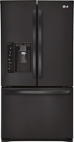 LG - 30.7 Cu. Ft. French Door Refrigerator with Thru-the-Door Ice and Water - Smooth Black