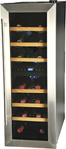 Kalorik - 21-Bottle Wine Bar - Black/Stainless-Steel