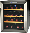 Kalorik - 16-Bottle Wine Bar - Black/Stainless-Steel