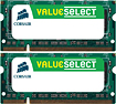 Buy Web Cams - Corsair Value Select 2-Pack 1GB PC2-5300 DDR2 SoDIMM Laptop Memory Kit