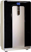 Haier - Refurbished 10,000 BTU Portable Air Conditioner - Silver/Black